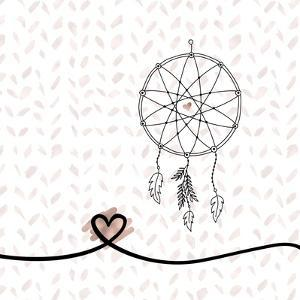 Dream Catcher Hearts and Pattern by Tara Moss
