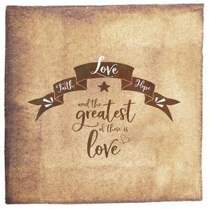 Faith Hope Love Banner by Tara Moss