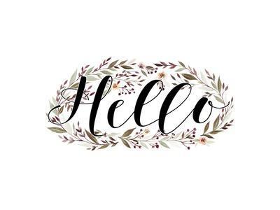 Hello Floral Wreath