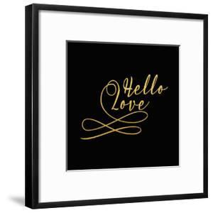 Hello Love Gold on Black by Tara Moss