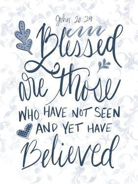 John 20:29 Handlettered by Tara Moss