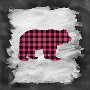 Pink Plaid Bear by Tara Moss