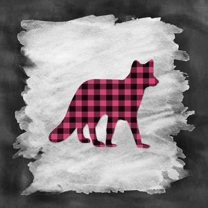 Pink Plaid Fox by Tara Moss