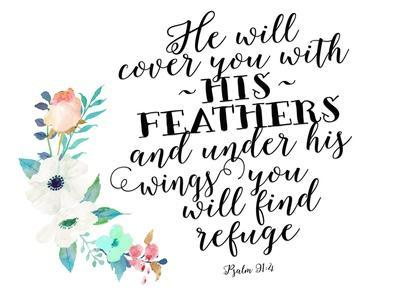 Psalm 91 4 Floral Posie