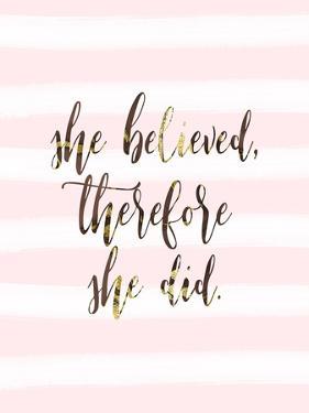 She Believed by Tara Moss
