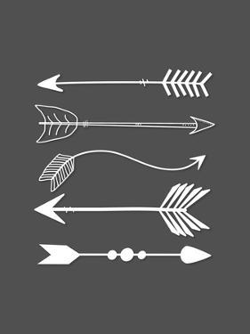 White Arrows on Gray by Tara Moss