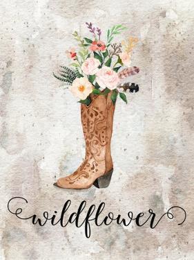 Wildflower Watercolor Boot by Tara Moss