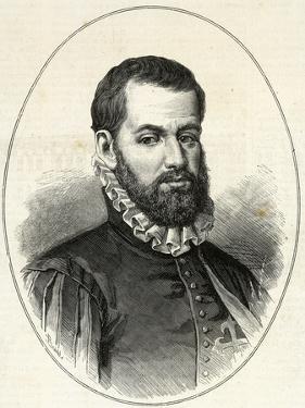 Pedro Menendez De Aviles (1519-1574). Engraving. by Tarker