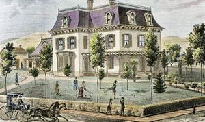 Residential Home with the Family Playing Cricket by Tarker