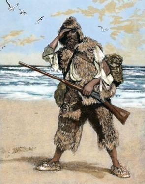 Robinson Crusoe Surprised to Find out the Footprint of a Bare Foot by Tarker