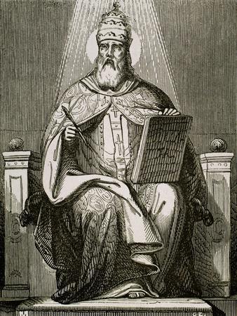 Saint Damasus I, (304-384). Roman Pope (366-384).