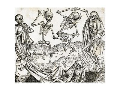 The Dance of Death (1493) by Michael Wolgemut, from the Liber Chronicarum by Hartmann Schedel.