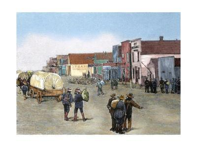 United States. Purcell. Oklahoma. Main Street after the Land Rush, 1889.