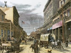 Virginia City in 1870 by Tarker