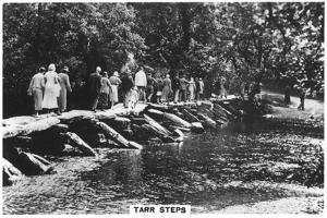 Tarr Steps, across the River Barle in Exmoor, Somerset, 1937