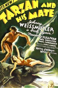 Tarzan and His Mate, Johnny Weissmuller, Maureen O'Sullivan, 1934