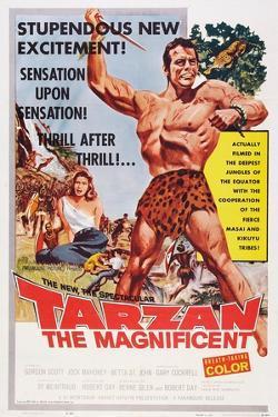 Tarzan the Magnificent, from Back Left: Betta St. John, Gordon Scott, 1960