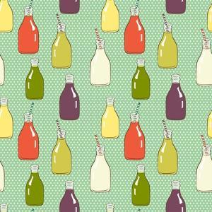 Cartoon Bottles Pattern. by TashaNatasha