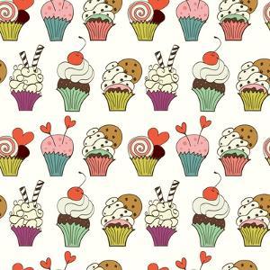 Cupcakes Pattern by TashaNatasha