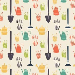 Garden Seamless Pattern by TashaNatasha