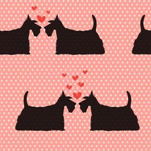 Pattern with Cartoon Dogs. by TashaNatasha