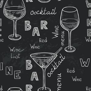 Wine Glasses Pattern by TashaNatasha