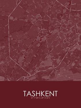 Tashkent, Uzbekistan Red Map