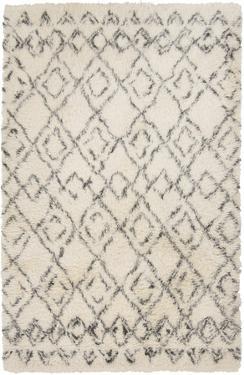 Tasman Shag Wool Rug - Ivory 5' x 8' *