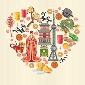 China Travel Illustration by Tatsiana Tsyhanova