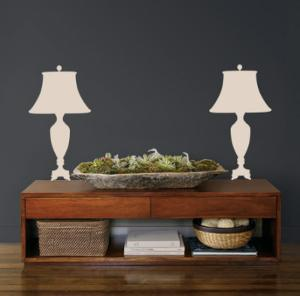 Taupe Victorian Lamps