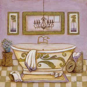 Lavender Bath I by Tava Studios