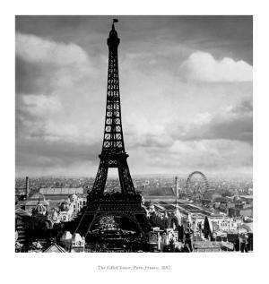 The Eiffel Tower, Paris France, c.1897 by Tavin