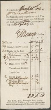 Tax Receipt 1802