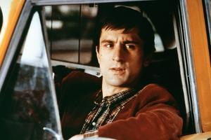Taxi Driver by Martin Scorsese with Robert by Niro, 1976 (photo)