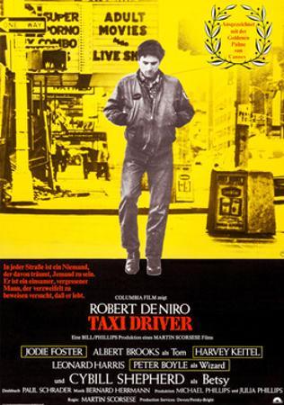 Taxi Driver, German Poster Art, Robert De Niro, 1976