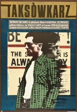 Taxi Driver, Robert De Niro on Polish Poster Art, 1976