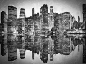 Abstract Skyline BW by Taylor Greene