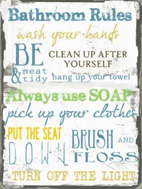 Bathroom Rules Multi by Taylor Greene