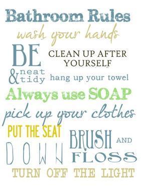 Bathroom Rules (Multi) by Taylor Greene