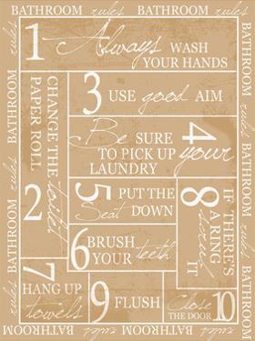Bathroom Rules by Taylor Greene
