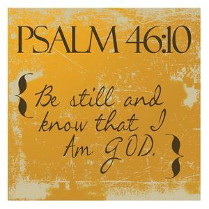 Psalms 46-10 Orange by Taylor Greene