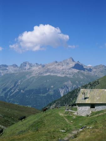 A Cow Herder's Mountain Hut High in the Swiss Alps