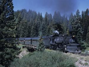 A Steam Engine Chugs Through a Mountain Pass in the Rockies, Cumbres Pass, Colorado by Taylor S. Kennedy