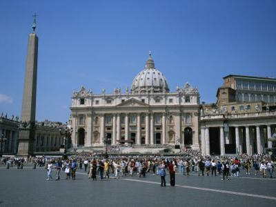 A View of St Peter's Basilica in Vatican City