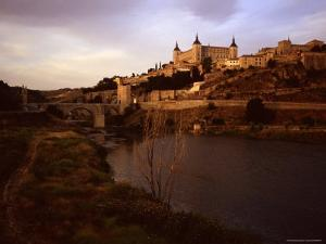 At Sunset a River Runs Past the Ancient City of Toledo, Spain, Toledo, Spain by Taylor S. Kennedy