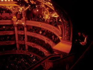 Before the Show at the Opera Garnier Two Ladies Read the Program, Paris, France by Taylor S. Kennedy