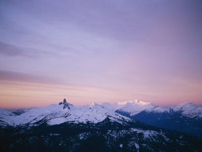Early Morning View of Mountain Alpenglow on Black Tusk in Whistler by Taylor S. Kennedy
