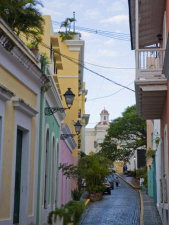 Street in Colorful Old San Juan, Puerto Rico