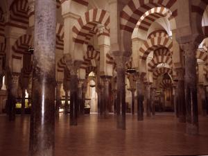 The Ancient Arches of the Mosque in the Mezquita in Cordoba, Spain, Cordoba, Spain by Taylor S. Kennedy