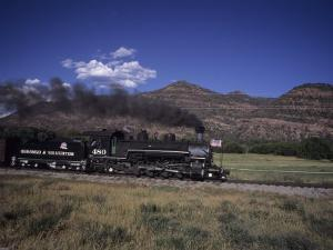 The Durango and Silverton Steam Engine Cruises Along on a Summer Day, Durango, Colorado by Taylor S. Kennedy